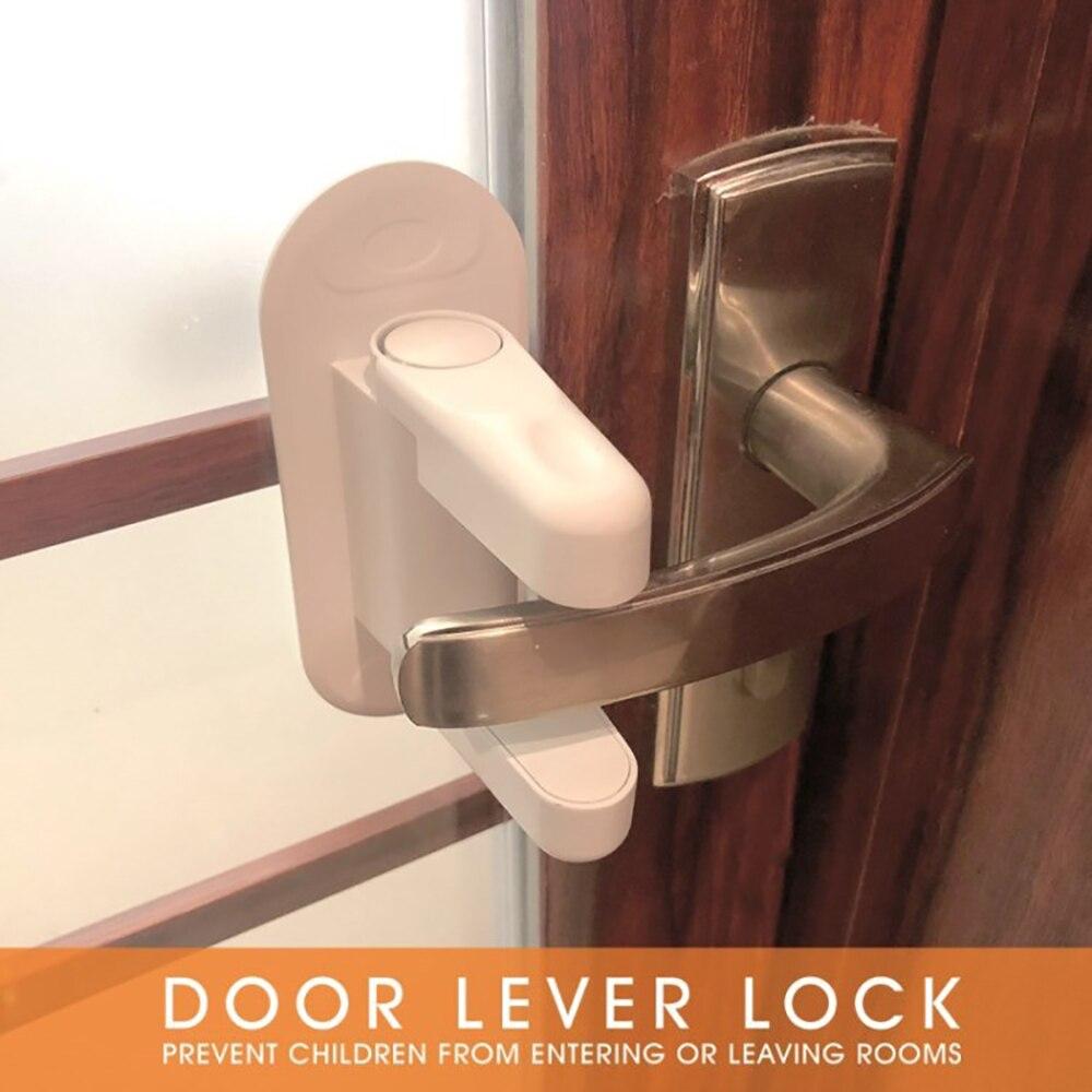 Pack Serrure de porte de s/écurit/é en forme daile Protection de s/écurit/é pour b/éb/é Serrure de porte coulissante Serrure de porte de s/écurit/é 2PCS