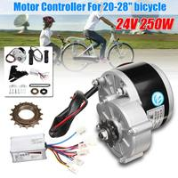 24V 250W Motor Controller Electric Bike Conversion Kit Flywheel Handle Motor Bracket Chain For 20 28 inch e bike Bicycle kit
