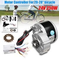 24V 250W Motor Controller Electric Bike Conversion Kit Flywheel Handle Motor Bracket Chain For 20 28 inch e bike Bicycle kit
