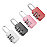 New Resettable 3 Dial Digit Combination Suitcase Luggage Password Code Lock Padlock Fashion Easily Carry Agilely Use Locks