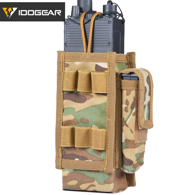 IDOGEAR Tactical MOLLE PRC-148152 Radio Pouch Walkie Talkie Military Outdoor Sports Hunting Airsoft Gear 3521