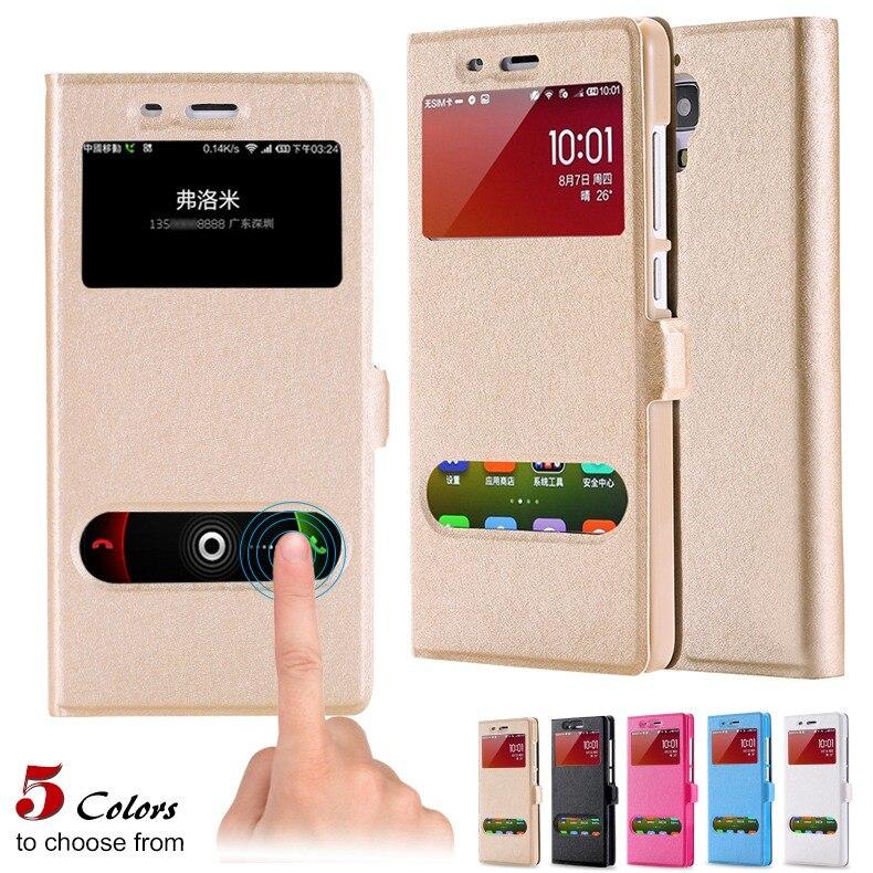 KISSCASE Fashion Magnetic Flip Phone Case For Xiaomi mi 4 Cases Button Silk Pattern Cover Redmi Note Coque Capa