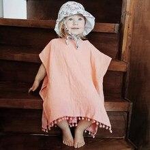 a1bcb54dc 0-4t Kids Baby Girl Clothing Boho Beach Summer Tassels Dress Elegant Hooded  Loose Cape Dress Hooded Cloak Poncho Cute Clothes