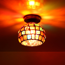 Artpad Retro Turkish Mosaic Lamps Stained Glass Sconces LED Surface Mounted Ceiling Lights for Living Room Bedroom Dining E27