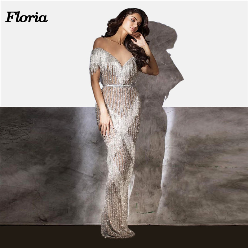 Arabic Couture New Beading Rhinestone   Evening     Dresses   Robe de soiree 2018 Aibye African Muslim Crystal Prom   Dress   For Weddings
