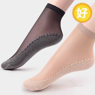 Sexy Lace Mesh Silk Fruit Fishnet Socks Fiber Transparent Stretch Elasticity Ankle Net Yarn Thin Women Socks 1pair=2pcs TMD08