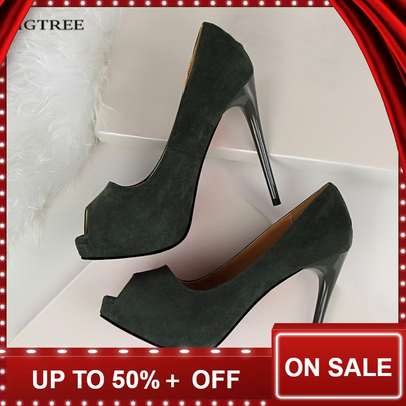 Platform heels shoes women Summer Queen Open Toe High Heels Shoes Pumps Thin Heeled Suede Sexy Female Sandals Shoes G1675-2Platform heels shoes women Summer Queen Open Toe High Heels Shoes Pumps Thin Heeled Suede Sexy Female Sandals Shoes G1675-2