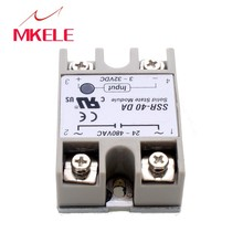 цена на 2015 Hot New Temperature Control Solid State Relay SSR-40DA 40A 3-32V DC 24-380V AC