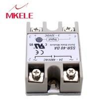 2015 Hot New Temperature Control Solid State Relay SSR-40DA 40A 3-32V DC 24-380V AC