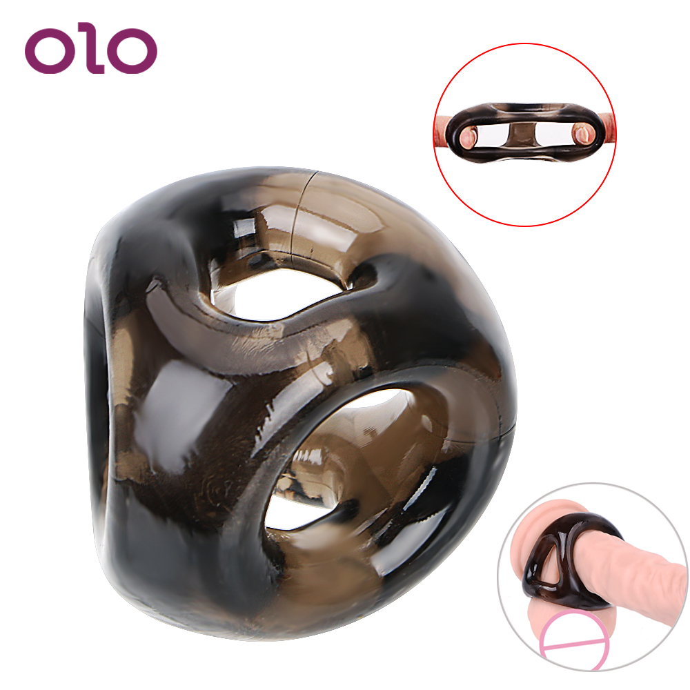 OLO Penis <font><b>Ring</b></font> Elastic Scrotal Binding Male <font><b>Silicone</b></font> Delay Ejaculation <font><b>Cock</b></font> <font><b>Ring</b></font> <font><b>Sex</b></font> <font><b>Toys</b></font> for Men Adult Products image