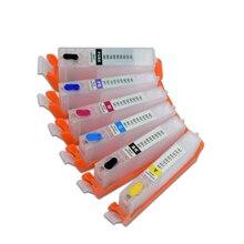 6 цветов PGI-580 CLI-581Refillable чернильный картридж с чернилами одноразовая микросхема для Canon PIXMA TS8150 TS8151 Опи 580XL 581XL
