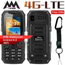 Snopow M2 Plus 4G WIFI GPS Russian keyboard IP68 Waterproof Shockproof mobile Phone 1GB 8GB MTK6737