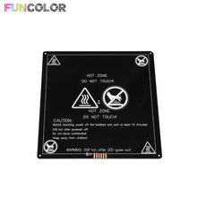 2019 New Heated Bed 220*220*3mm Round Corner MK3 Heatbed 3D Printers Parts Aluminum Plate Hotbed Black Heat Heating Part цены онлайн