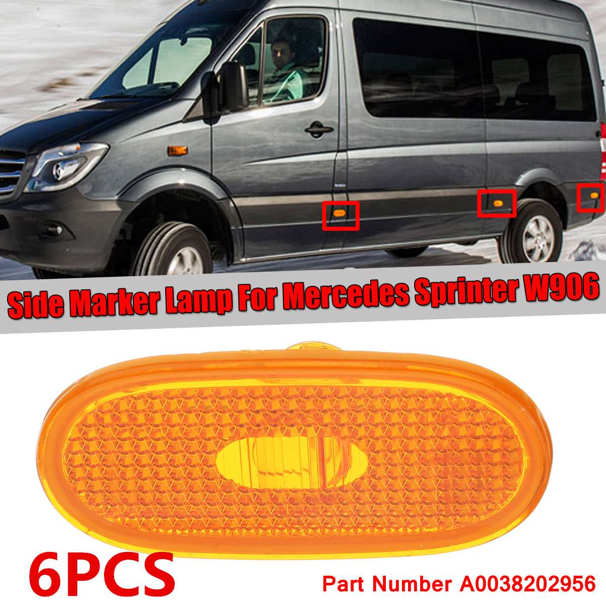 Rear Tail Stop Lamp Lens Pair for Volkswagen Crafter 2006-2016 Right /& Left