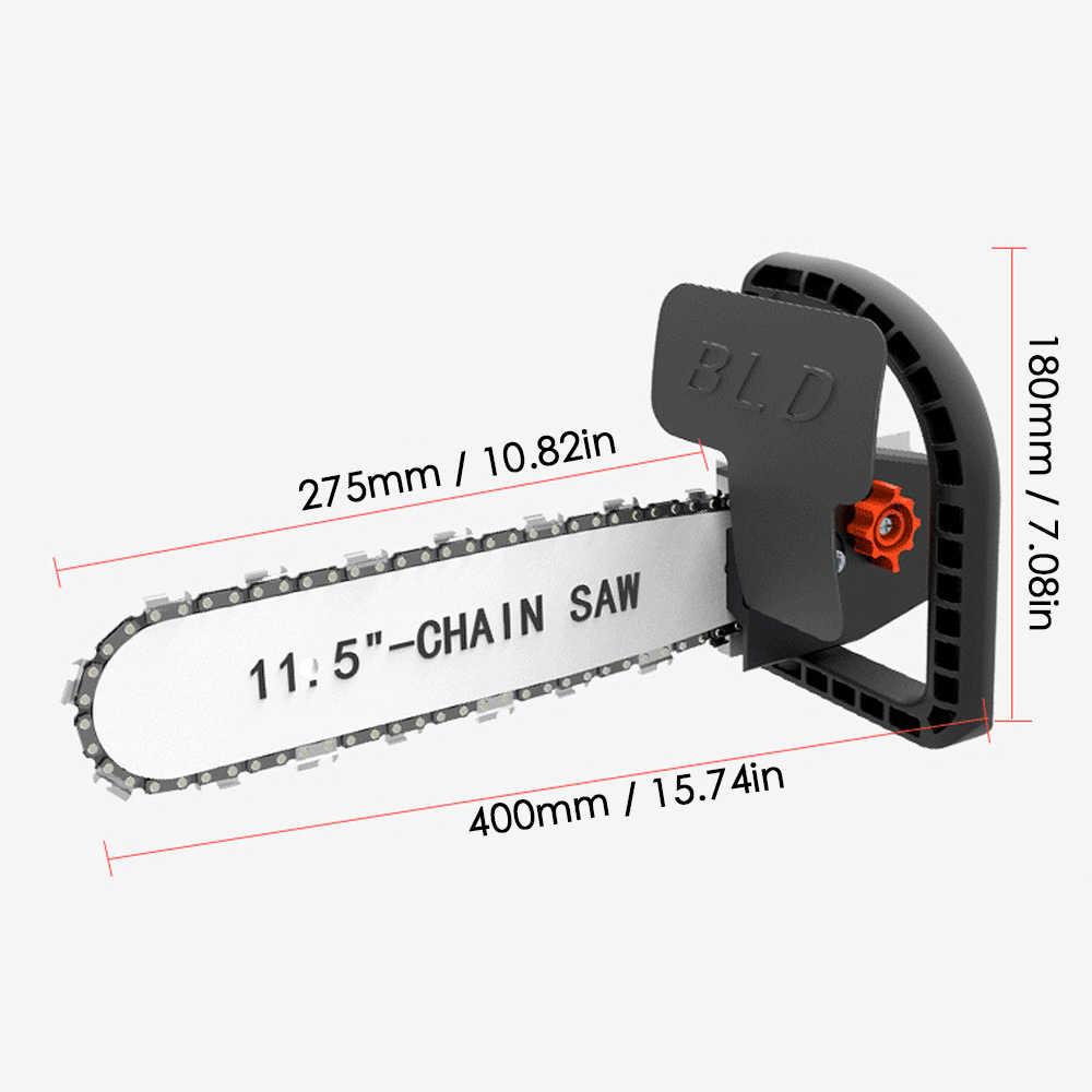 שדרוג 11.5 מסור אינץ שיפוץ המרת ערכת Chainsaw סוגר סט שינוי זווית מטחנות לתוך שרשרת מסור נגרות חשמל כלי