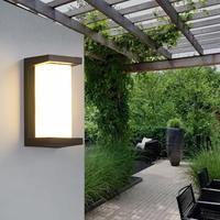 SOLLED Outdoor Lighting IP65 Waterproof Modern Wall Lamps Aluminum Socket Courtyard Garden Corridor Porch Decora