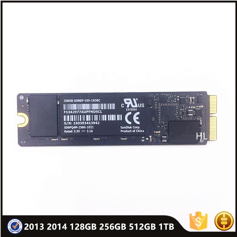 Genuine 2013 2014 for Macbook Pro Retina A1502 A1398 Air A1466 A1465 SSD Solid State Drive