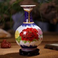 Antique Palace Ceramic Vase Enamel Classical Household Adornment Handicraft Furnishing Home Decor Decoration Accessories