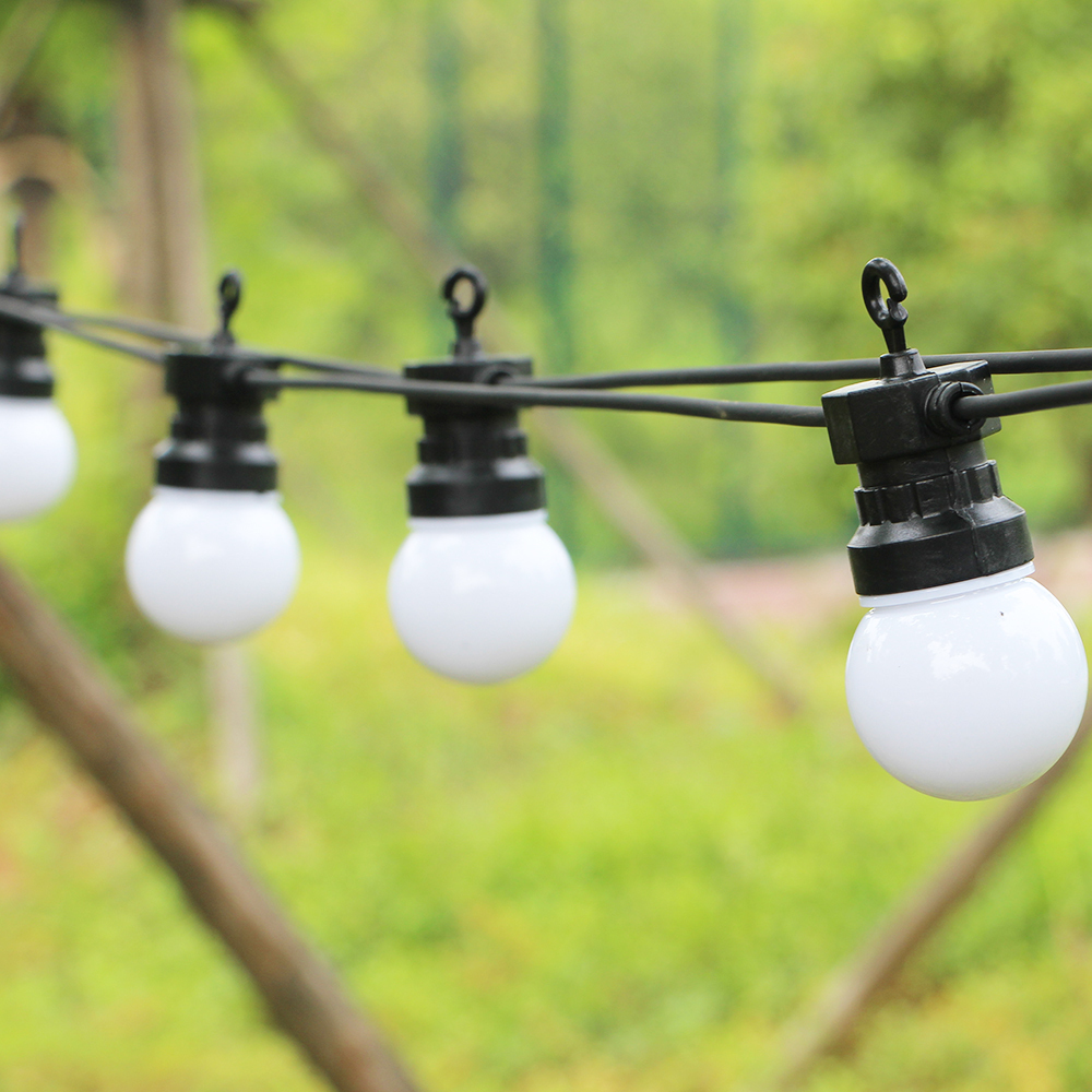 20 Bulbs Lde Fairy Lights Connetable String Lights Waterproof For Indoor Outdoor Garden Party Wedding Holiday Light Decoration