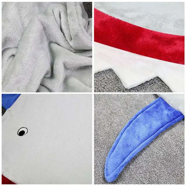 Shark Shaped Soft Blanket