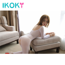 IKOKY Perspective One-Piece Pantyhose Long-Sleeved Stockings