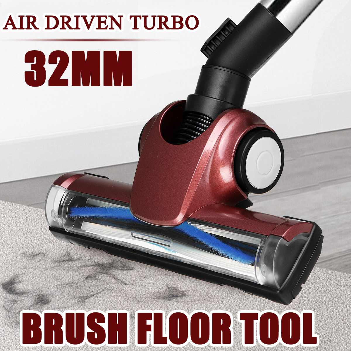 32mm Vacuum Cleaner Brush Floor Cleaner Head Air Driven Vacuum Turbo Nozzle Carpet Floor Tools For Dyson DC52 DC58 DC59 V6 DC62 1pcs vacuum cleaner storage package for dyson v6 v7 v8 dc62 suction head storage bag