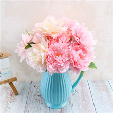 5 Head Artificial Peony Simulation High-Grade Wedding Residence Inn Home Decoration Artificial Flowers Peony Wholesale home decorative high simulation ombre artificial flowers