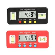 Red Mini Precision Digital Level Protractor Inclinometer Angle Finder Bevel Box Caliper Measuring Tools Electronic
