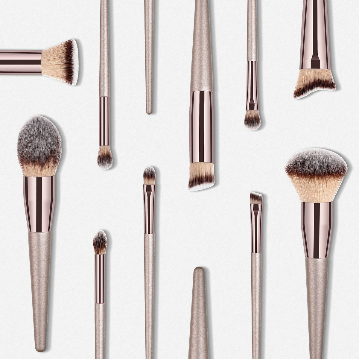 Luxury Champagne Makeup Brushes Set For Foundation Powder Blush Eyeshadow Concealer Lip Eye Make Up Brush Cosmetics Beauty Tools 3