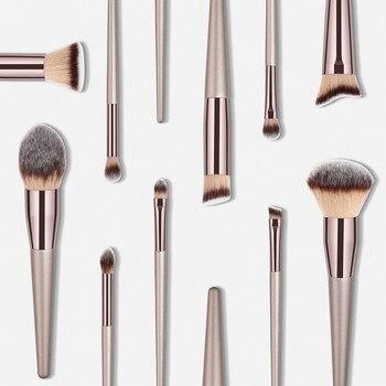Luxury Champagne Makeup Brushes Set For Foundation Powder Blush Eyeshadow Concealer Lip Eye Make Up Brush Cosmetics Beauty Tools 3
