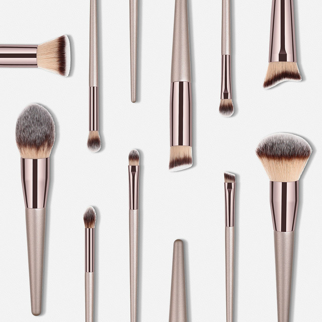 Luxury Champagne Makeup Brushes Set For Foundation Powder Blush Eyeshadow Concealer Lip Eye Make Up Brush Cosmetics Beauty Tools 2