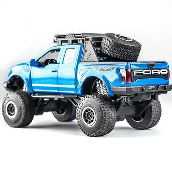 Mini  Pickup Truck Toy1:32 Pick-up  Model Toy Car For Ford F150 Raptor Sound And Light And Sliding Car 1 43 scale mini yat ming classic 1957 ford ranchero falcon fairlane coupe metal die cast pickup pick up truck van car model kids