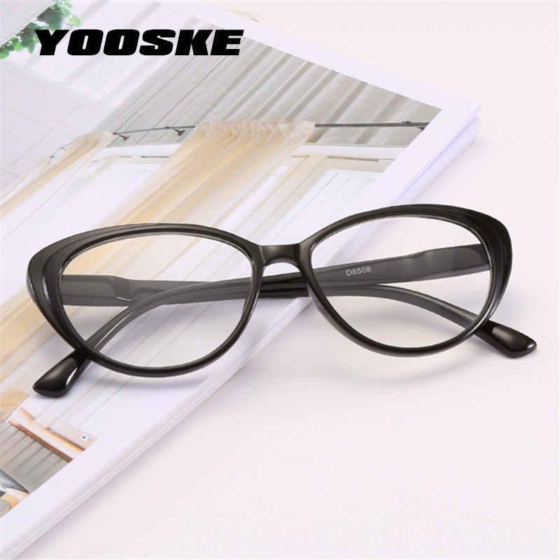 41636f50cd YOOSKE Clear Lens Cat Eyes Reading Glasses Women PC Frame Presbyopia Retro  Vintage Eyewear Prescription Glasses