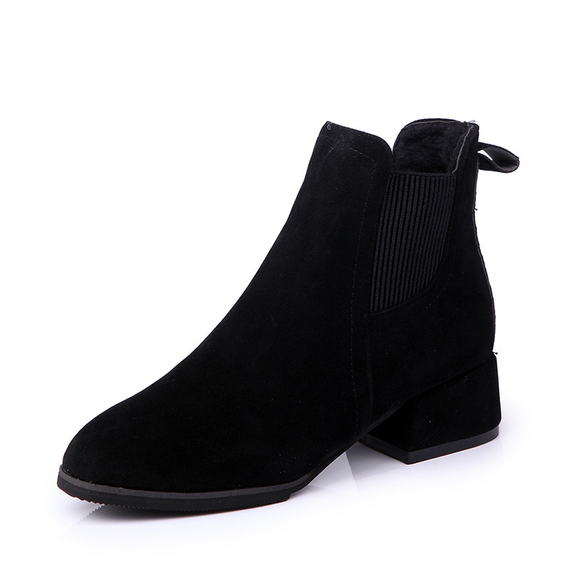Courtes Chaussures Hiver Femmes Automne Martin Élastique D'hiver Black Femme Bottes camel Loisirs O68qaEBxw