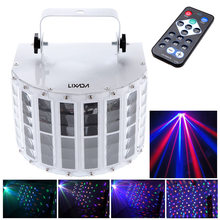 24W LED RGBW Disco Party 6 Channel Dmx 512 Voice-activated Automatic Control LED Projector DJ Home KTV Stage Lighting Lights(China)