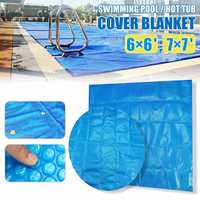 6ft/7ft Round/Square Swimming Pool Hot Tub Cover Blanket Spa Cover Keep Warm Spa Protector Outdoor Anti UV Dust Cap