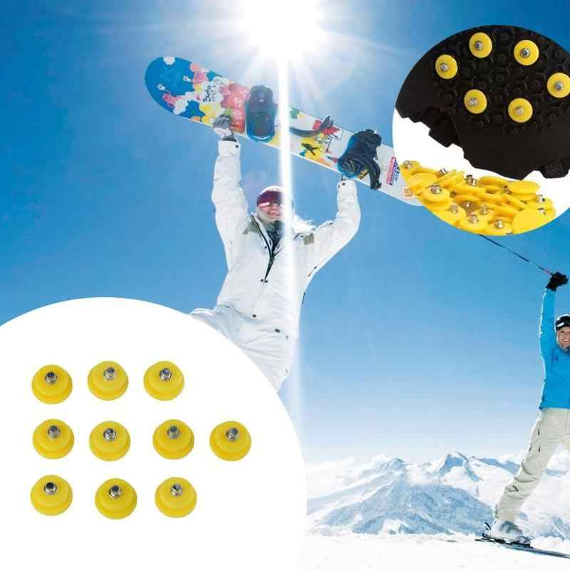 10pcs/set Outdoor Teeth Nail Climbing Ice Snow Crampons Spike Winter Anti-slip Shoe Cover for Climbing Fishing Travel Kit