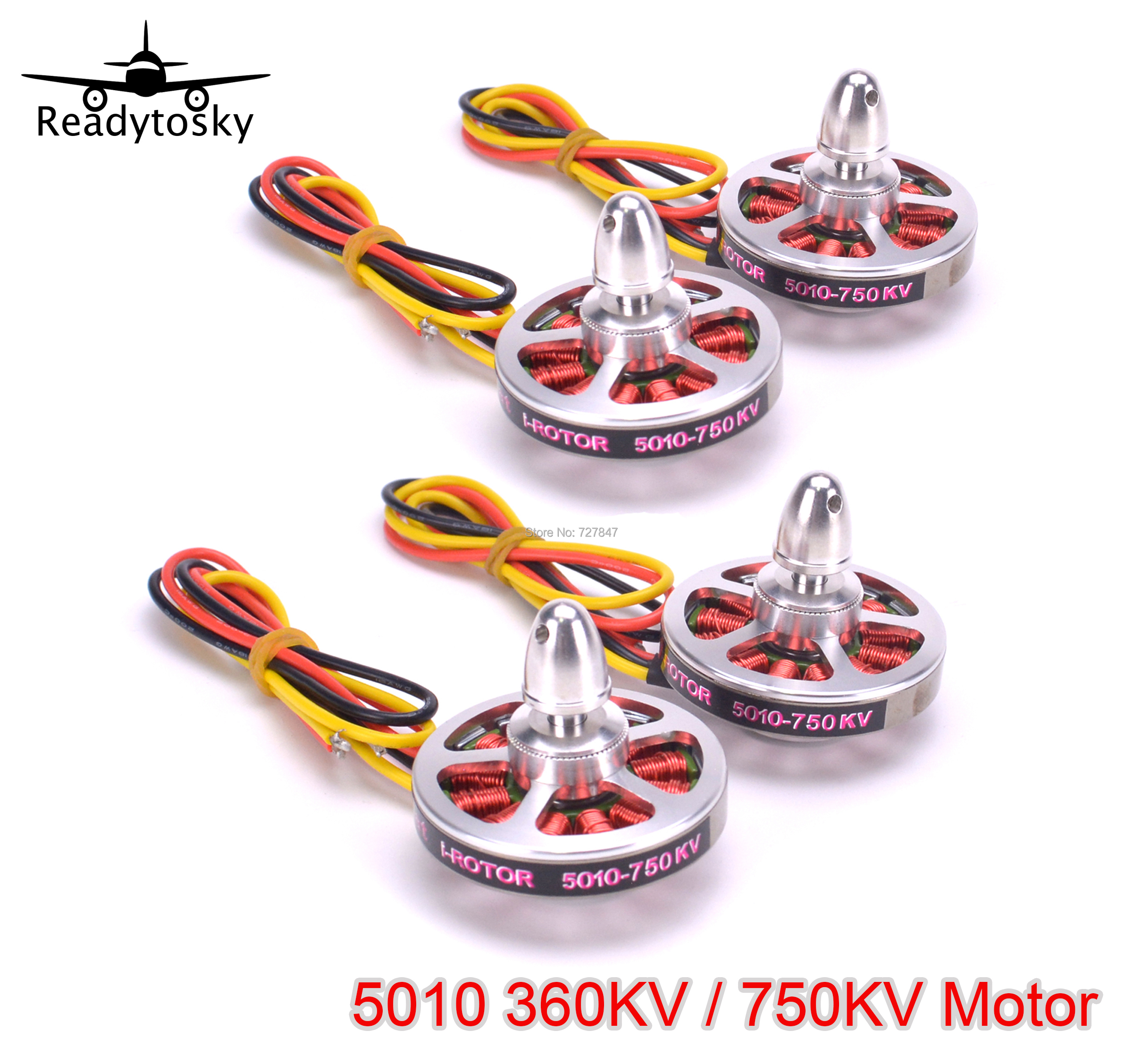 NEW <font><b>5010</b></font> 360KV / 750KV High Torque Brushless Motors For ZD850 ZD550 ZD680 MultiCopter QuadCopter image