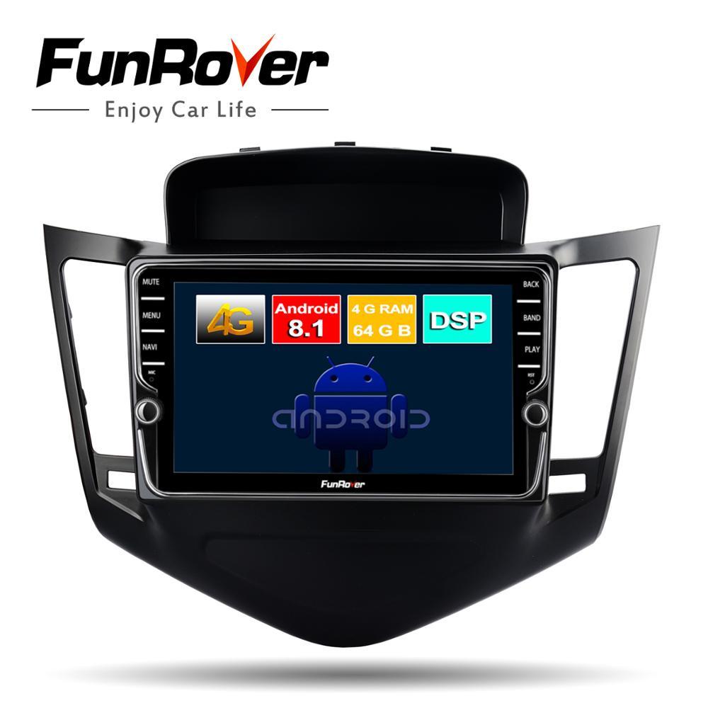 Lecteur multimédia dvd de voiture Funrover octa core 2 din android 8.1 pour Chevrolet Cruze 2009-2013 autoradio gps navigation stéréo DSP