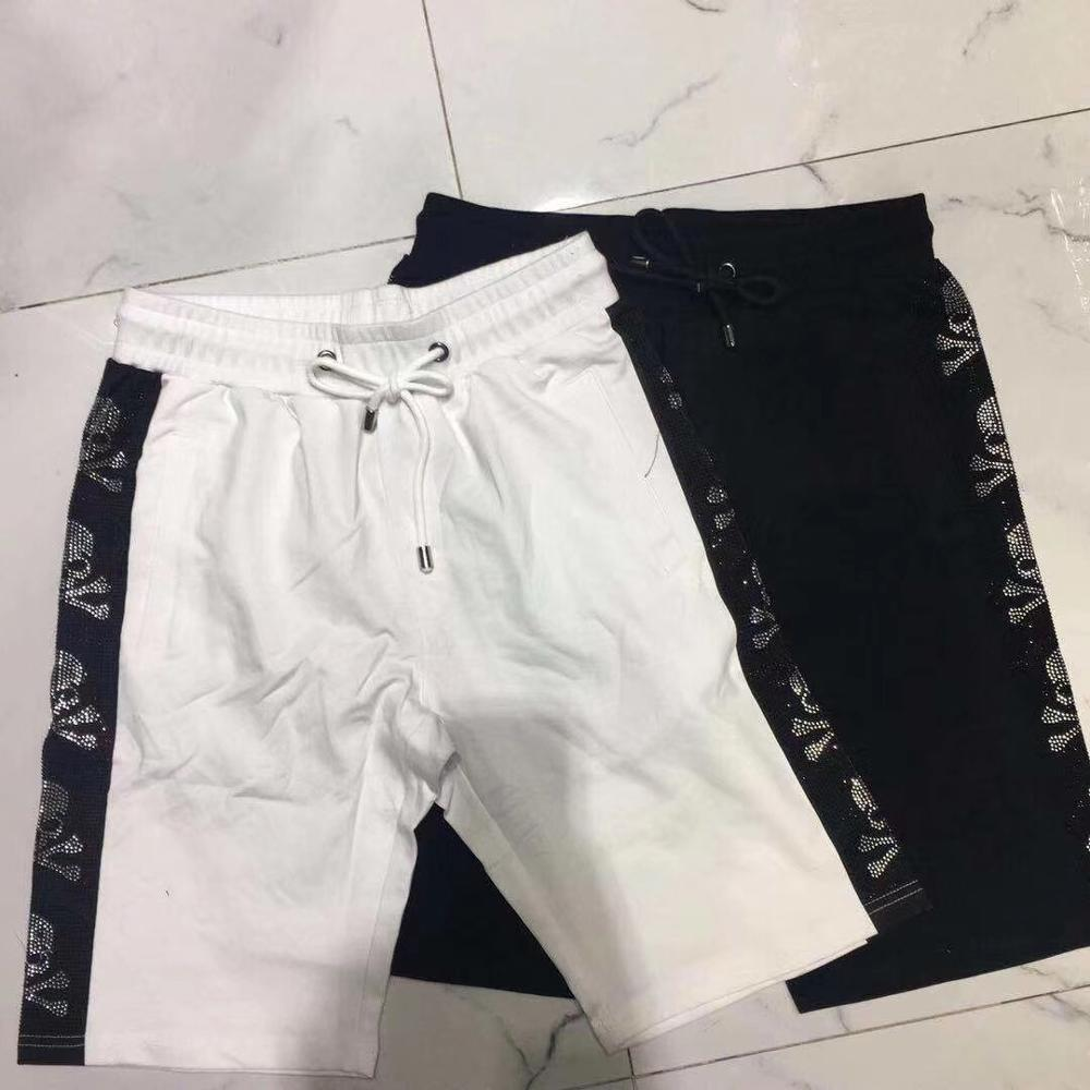 Men's Summer Shorts Home Casual Elastic Waist Skull Shorts Mens Pp Brand Fitness Loose Comfortable Breathable Shorts Male
