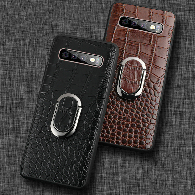 For Samsung Galaxy S10 Case Genuine Leather Armor Car Magnetic Ring Holder Cover For Samsung S10 Lite S10 Plus CaseFor Samsung Galaxy S10 Case Genuine Leather Armor Car Magnetic Ring Holder Cover For Samsung S10 Lite S10 Plus Case