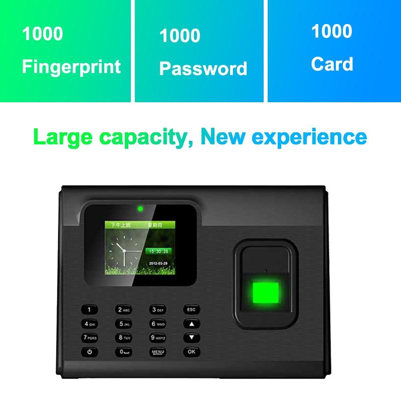 Купить с кэшбэком Biometric Fingerprint Time Attendance System TCP/IP USB Fingerprint Reader Access Control Recorder Time Clock Employees Device