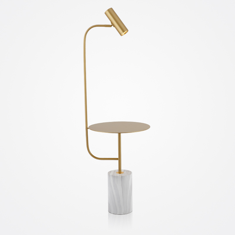 Nordic Art Marble Metal Body Floor Lamps Lights Designer LED Bedside Table Black Gold Color Standing Lamp Fixtures