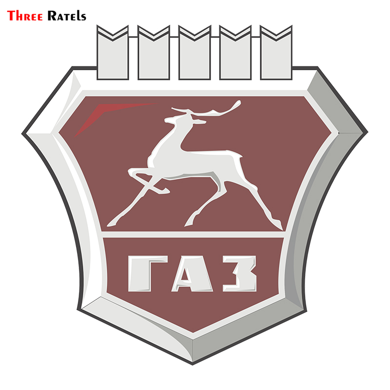 Three Ratels TRL716# 15x15cm Gaz Deer Shield  Colorful Car Sticker Funny Car Stickers And Decals Styling Removable