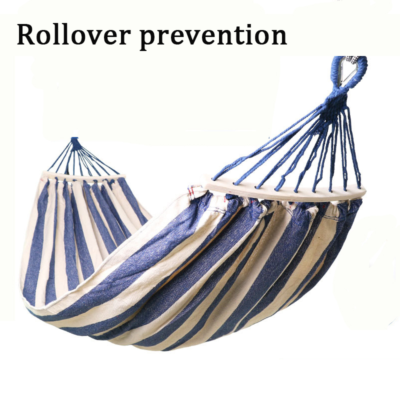 Two-person Rollover Prevention Camping Hammock Chair Home Furniture Dorm Swing Foot Rest 40cm Wooden Bar Hanging Chair