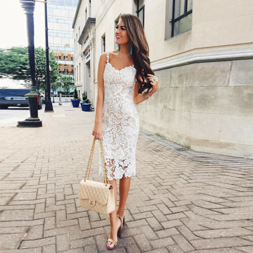 <font><b>2019</b></font> <font><b>Women</b></font> <font><b>Fashion</b></font> <font><b>Summer</b></font> Sleeveless Bodycon <font><b>Sexy</b></font> Short <font><b>Lace</b></font> Sundress New Casual Evening Party <font><b>Elegant</b></font> <font><b>Dresses</b></font> Vestido image