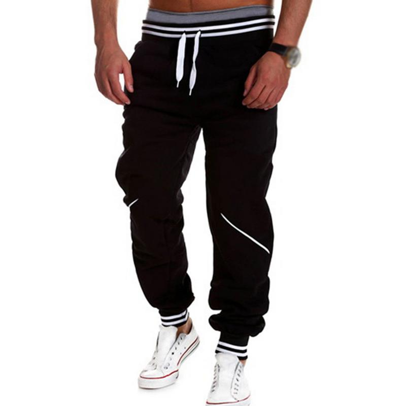 Spring Autumn Causal Long Pants Solid Color Loose Straight Sports Pants Breathable Lightweight Sweatpants for Men