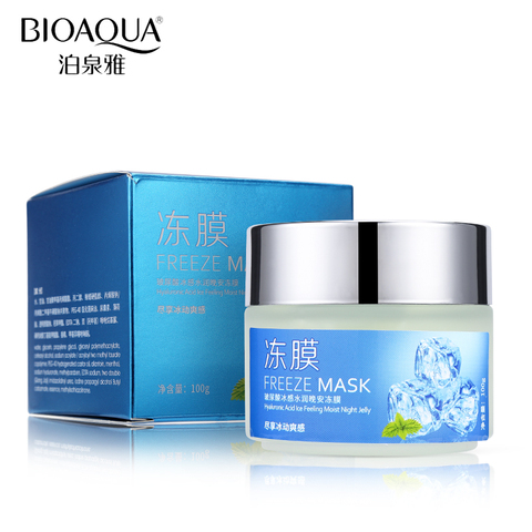 BIOAQUA Hyaluronic Acid Mint Coolness Moisturizing Sleep Facial Mask Moisturizer Nourish Anti-Aging Facial Night Cream Skin Care Pakistan