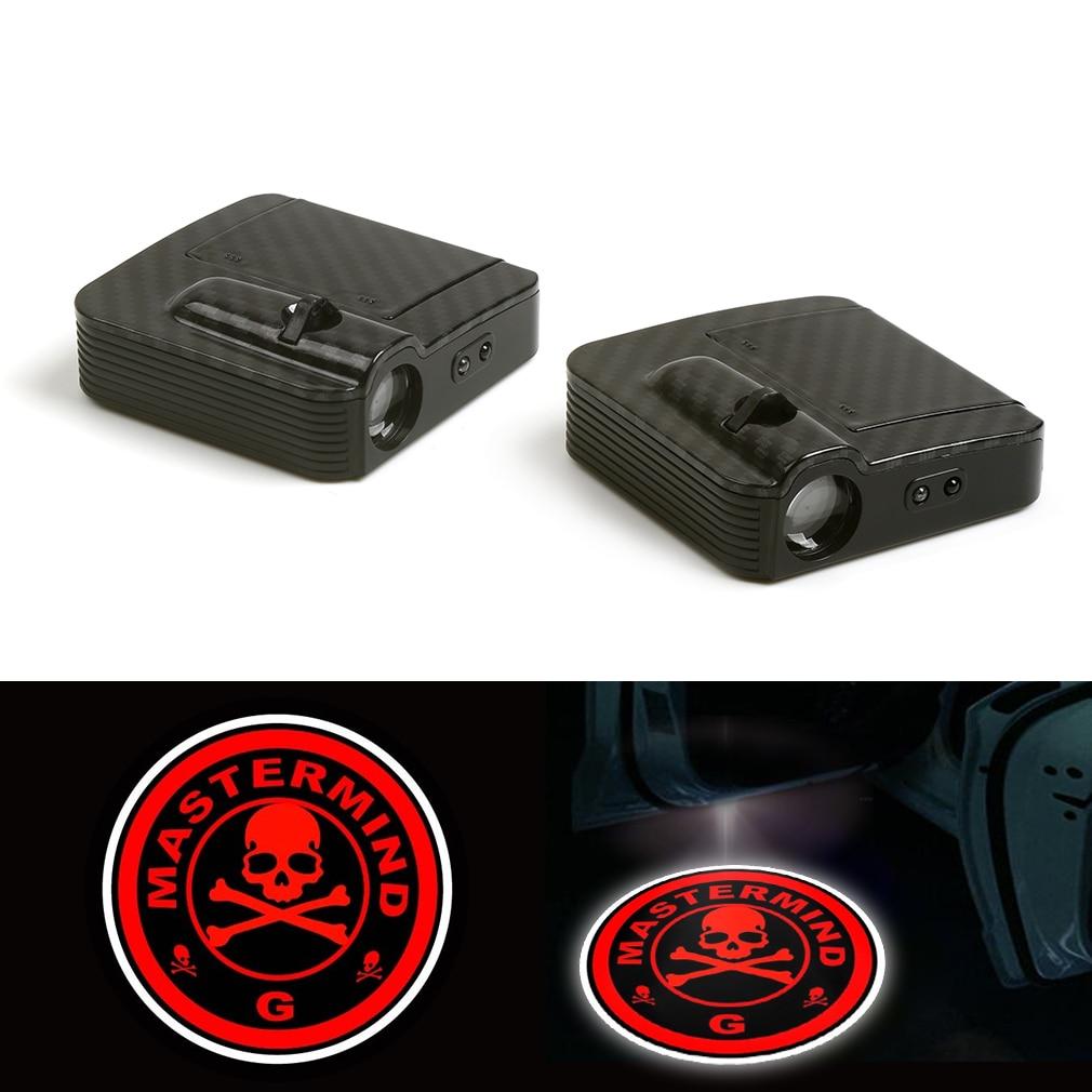 Wireless Red Skull LED Courtesy Car Logo Door Ghost Shadow Laser Projector Light