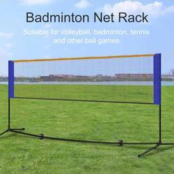 Портативный бадминтон волейбольная теннисная сетка бадминтон сетка на стойке с подставкой/каркасом сумка для переноски